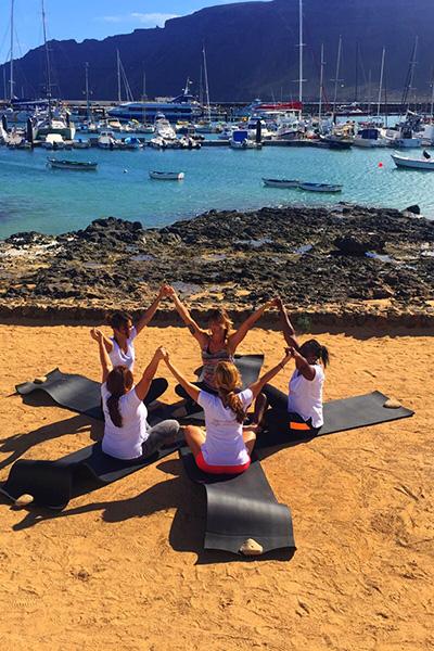Yoga sull'isola de La Graciosa
