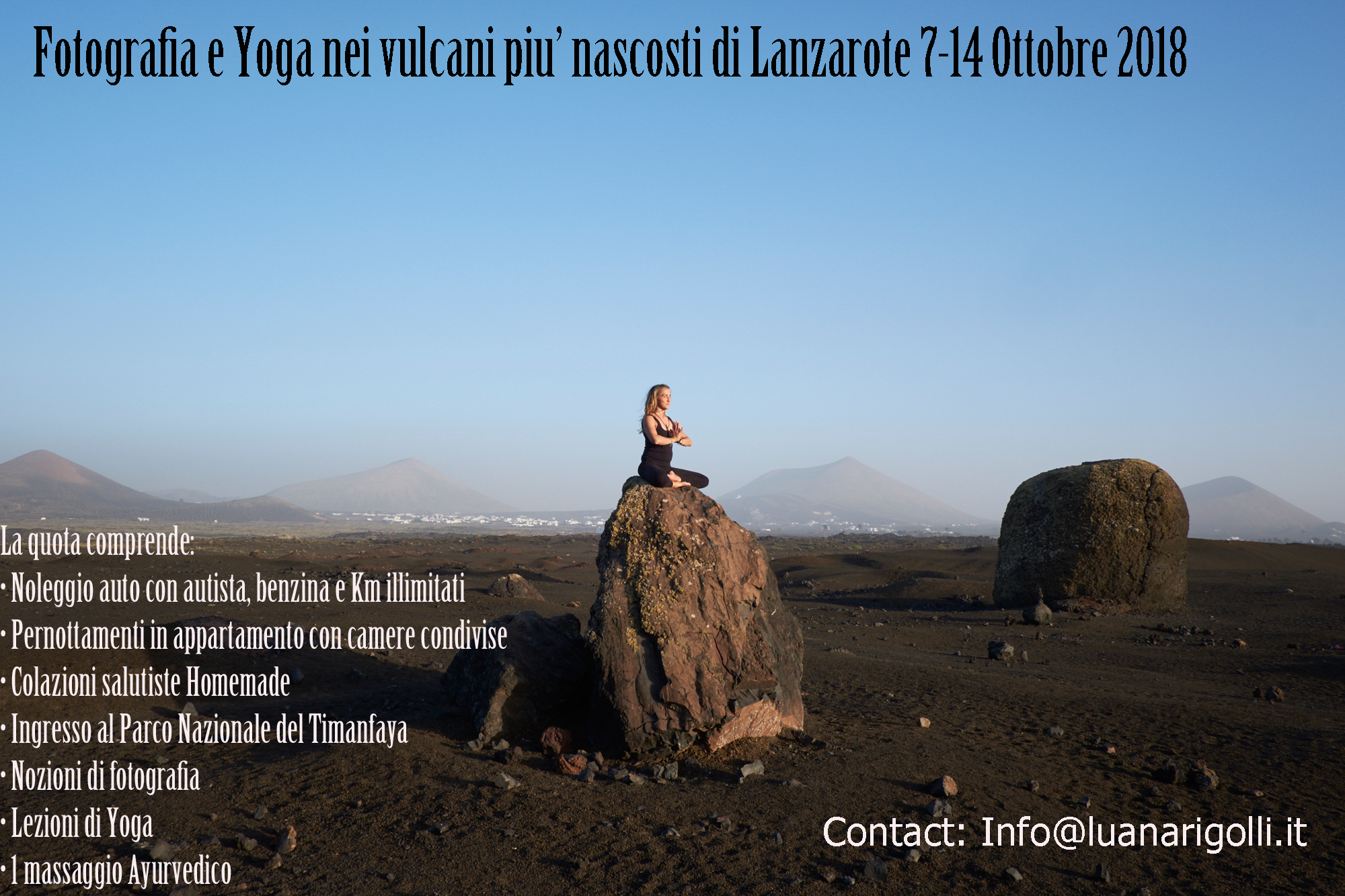 Photo and Yoga experience in Lanzarote, 7-14 Ottobre 2018